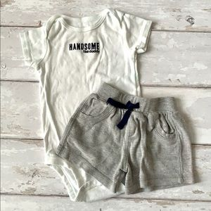 Carters 9m Baby Boy Summer Outfit Shorts Onesie
